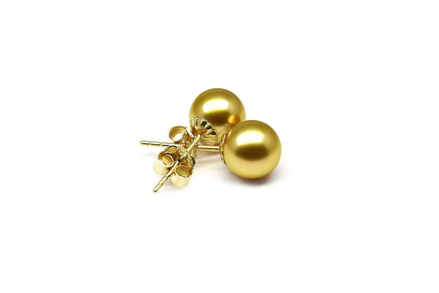 Gold Pearl Earrings-Kyllonen