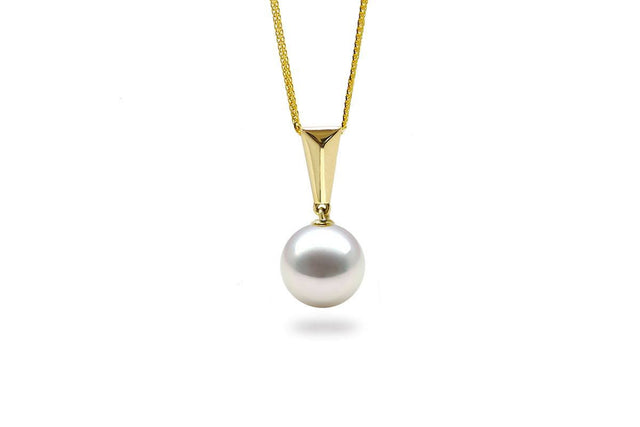 Baguette South Sea White Pearl Pendant-Kyllonen