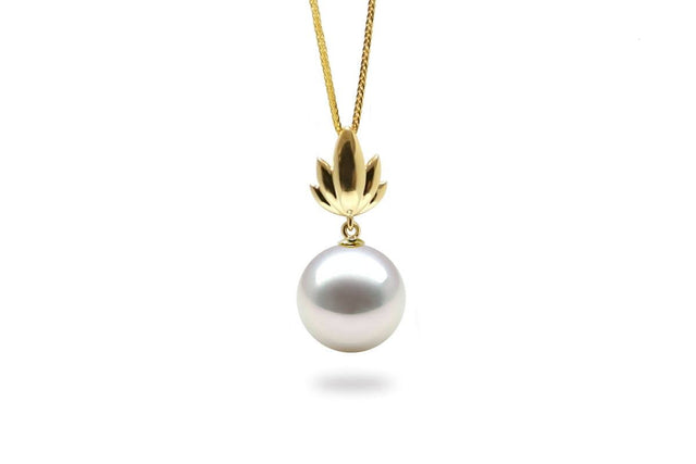Bloom South Sea White Pearl Pendant-Kyllonen