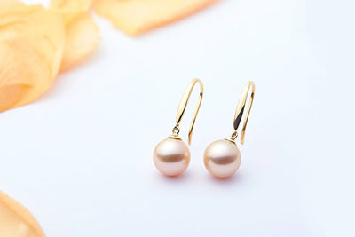 Hook Color Freshwater Pearl Earrings-Kyllonen