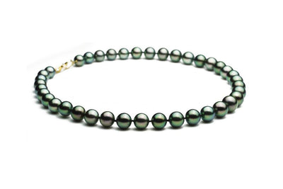 Gem Peacock Black Pearl Necklace