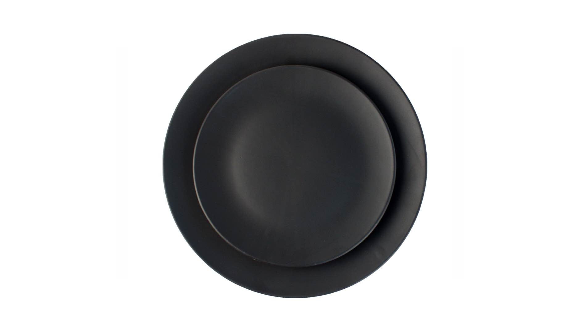 Salamanca Salad Plate Black<br>Set of 2