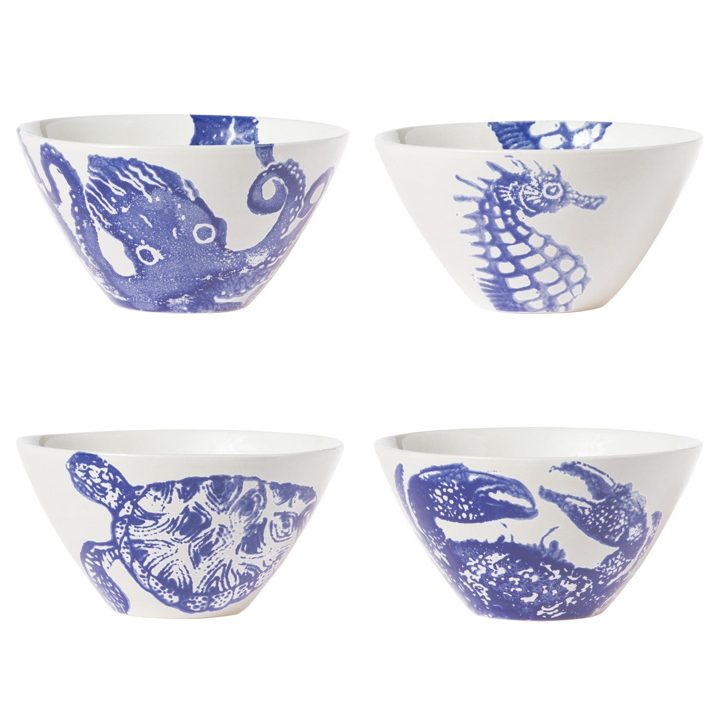 Costiera Assorted Blue Cereal Bowls (Set of 4)