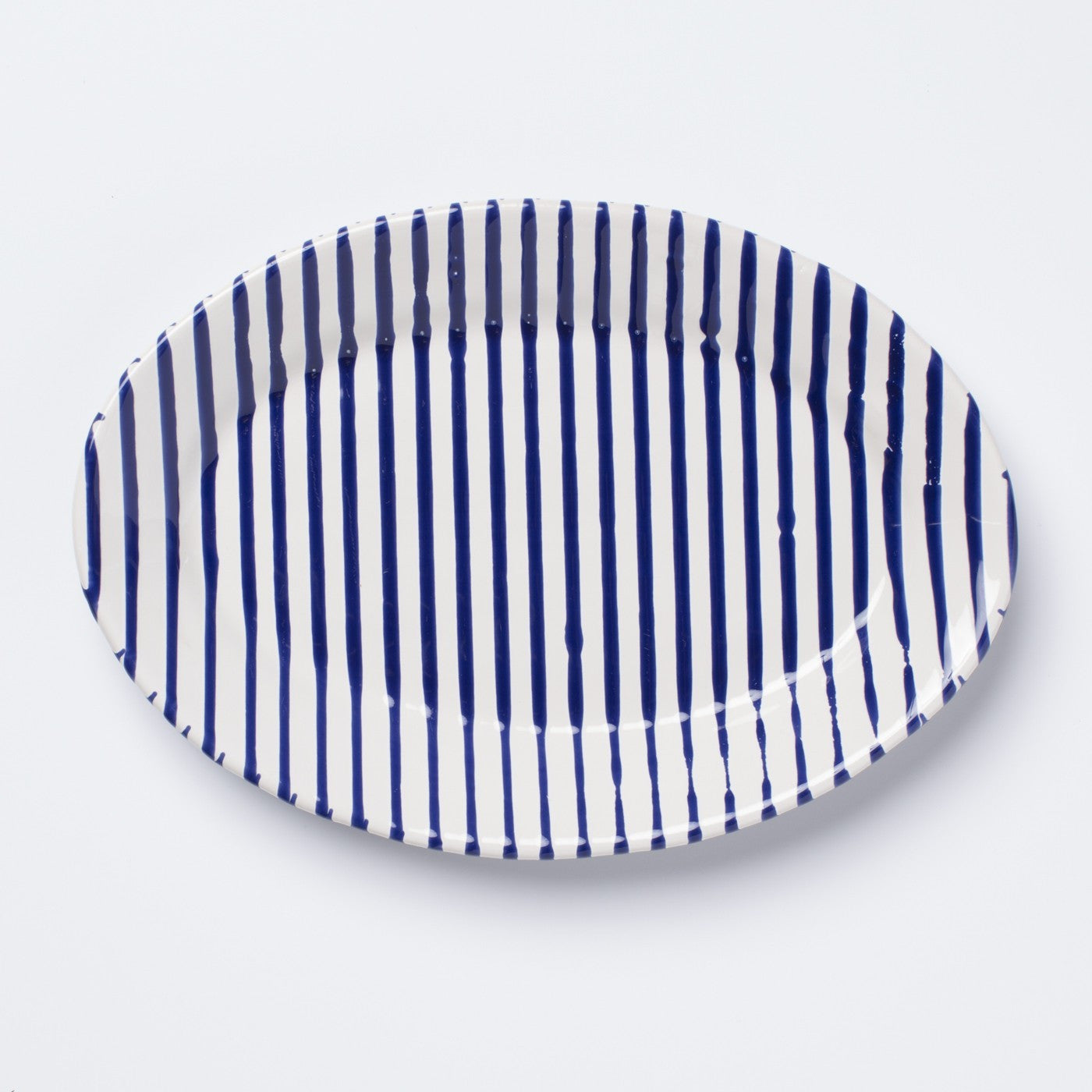 Seaside Stripe Small Oval Platter