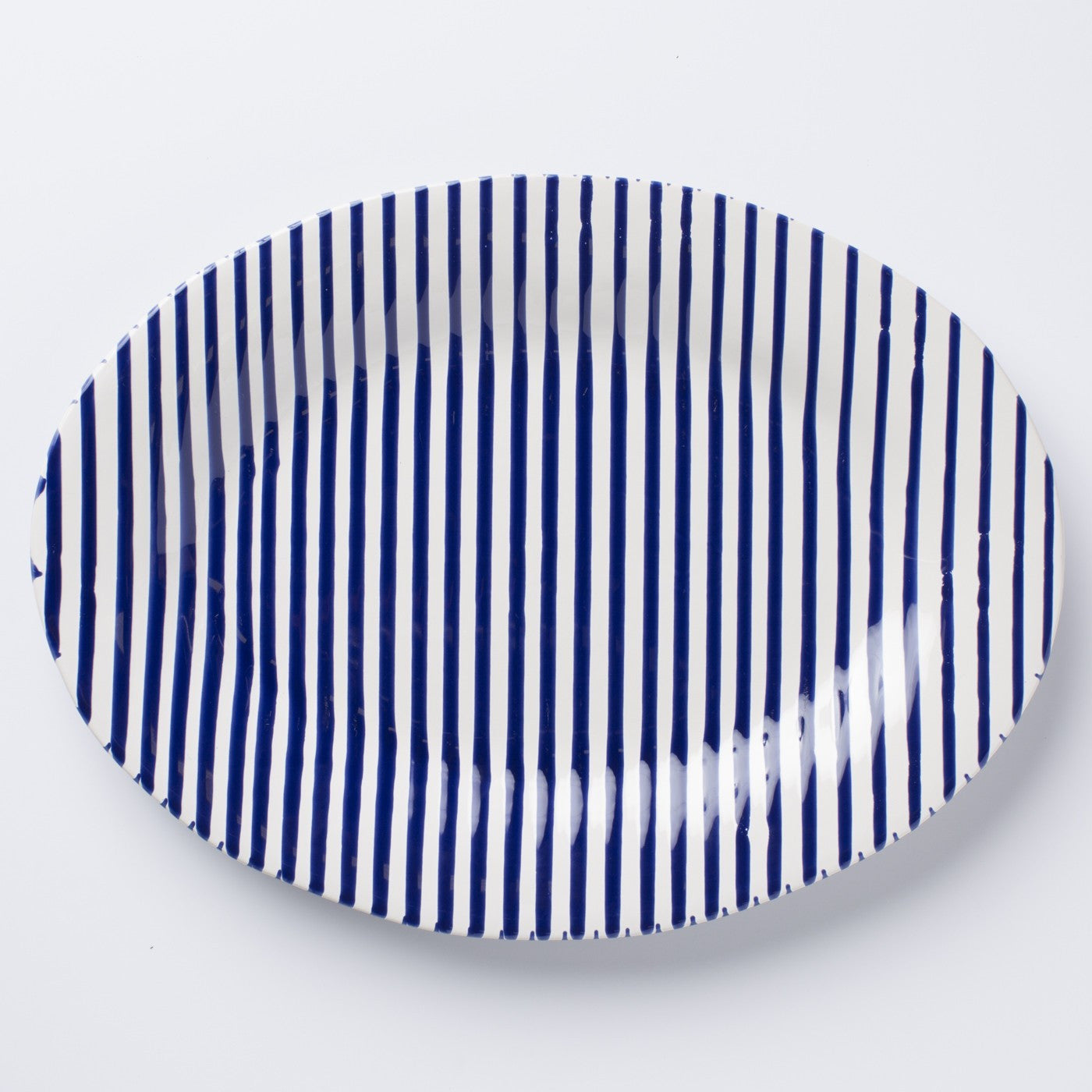 Stripe Oval Platter