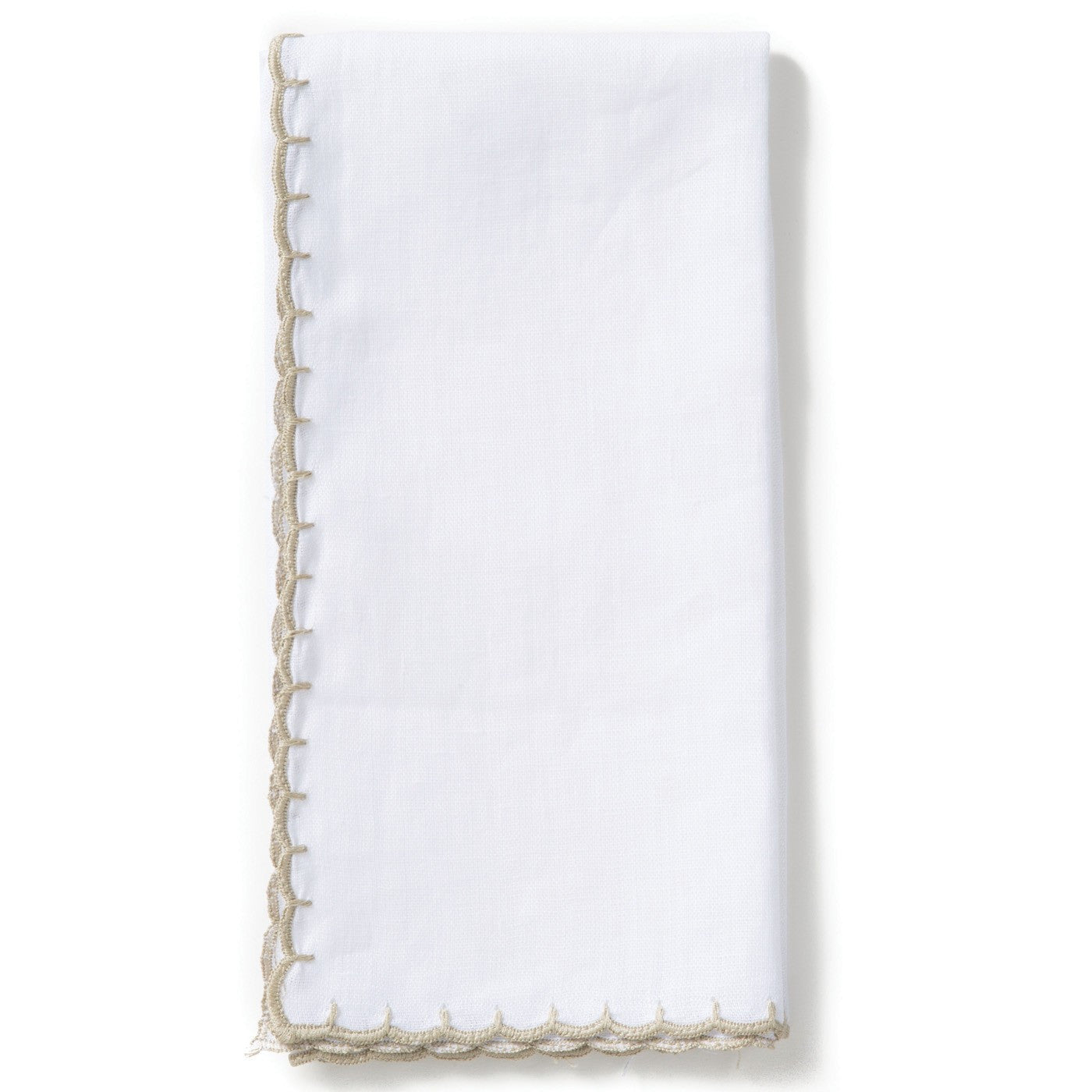 Whipstitch Ivory with Natural Napkin