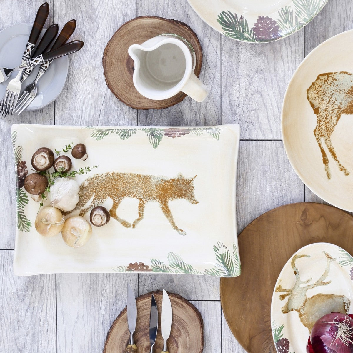 Foresta Fox Rectangular Platter