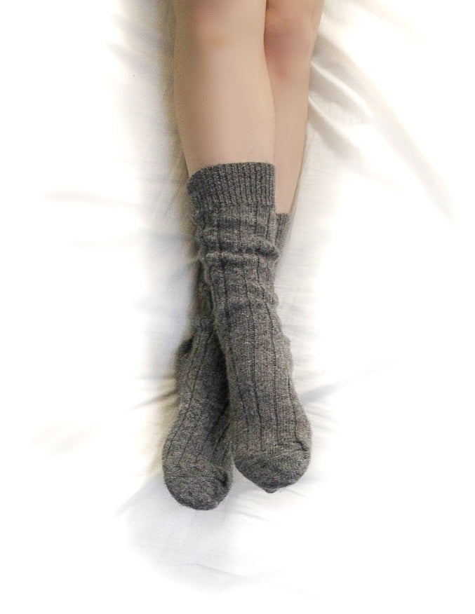 Luxury Homegrown Alpaca Bed Socks