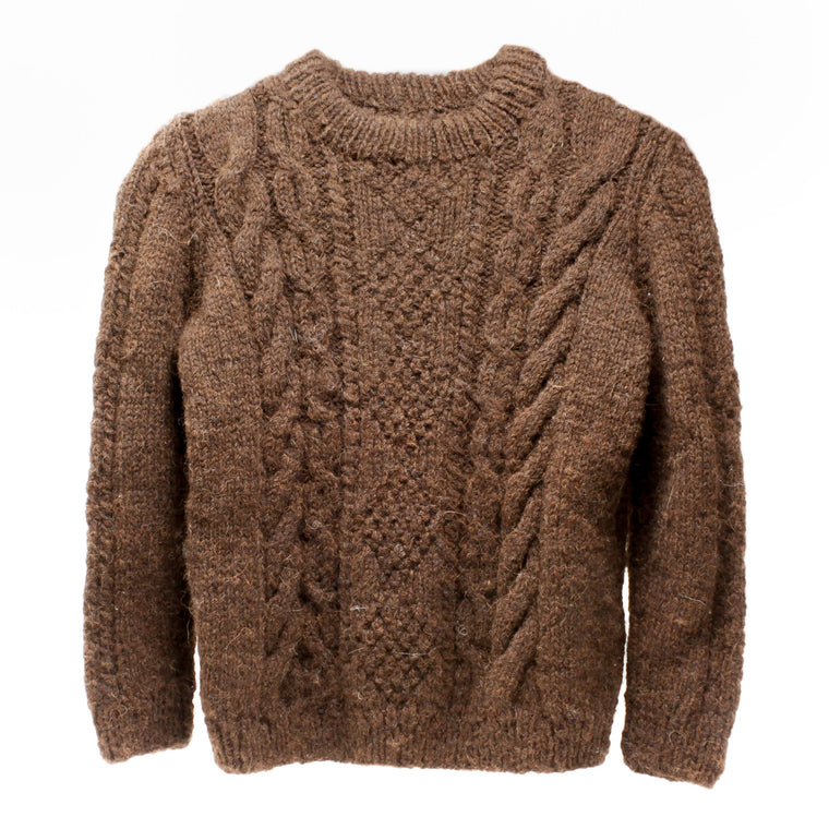 Heavy Duty Cable Stitch Child's Alpaca Shetland Jumper
