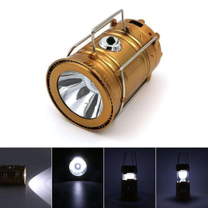 2 In 1 Portable Solar Rechargeable LED Flashlight Lantern - Vibe Plaza FREE Shipping Flash Sale Limited Stock