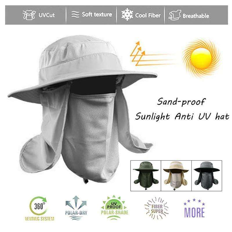 56a11d56b2a Summer Outdoor Sun Protection Bucket Hat – Vibe Plaza