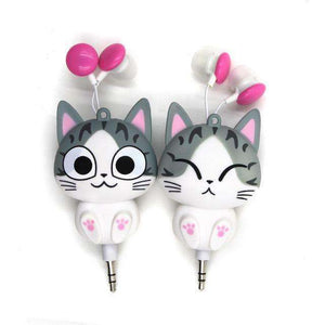 Cute Cat 3.5mm Jack In Earphones - Vibe Plaza FREE Shipping Flash Sale Limited Stock