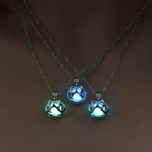 Glow In The Dark Cat Paw Necklace - Vibe Plaza FREE Shipping Flash Sale Limited Stock