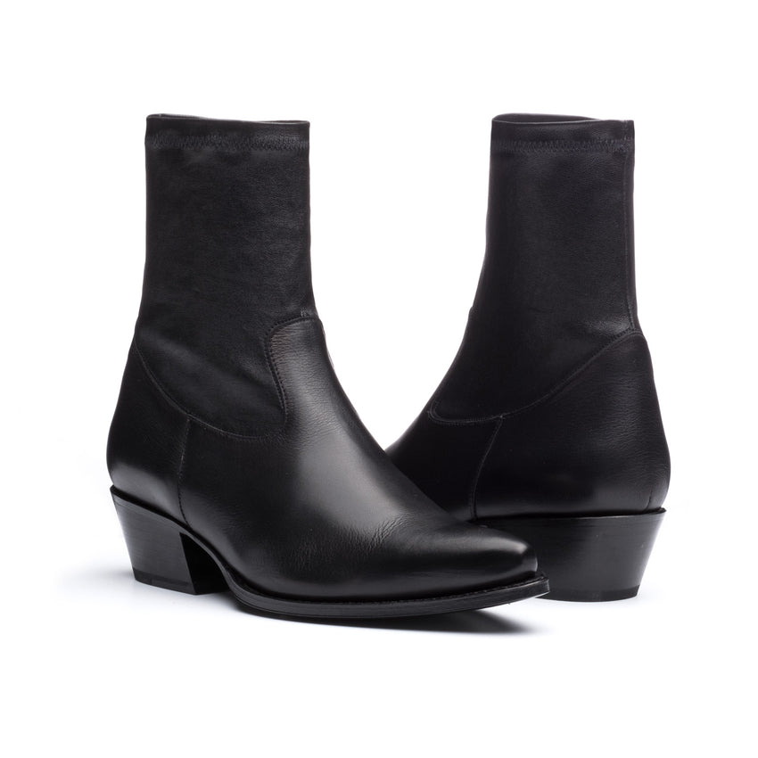 Madison 4 Black Nappa/Stretch Nappa Bootie