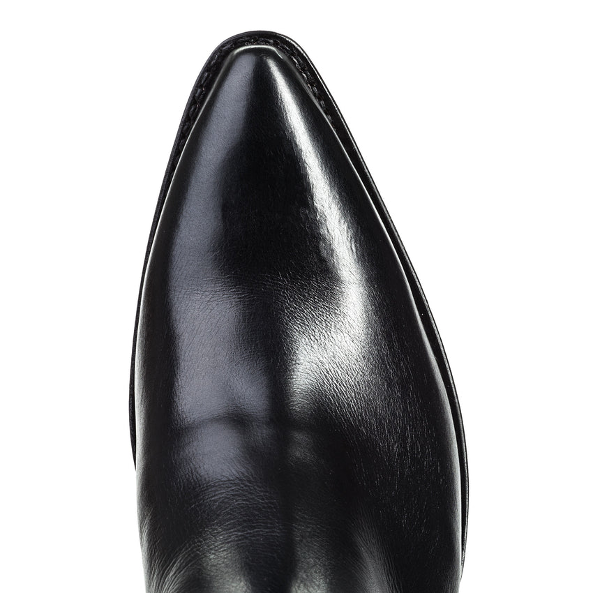 Mission 2 Black Calf Leather Finger-Gore Bootie