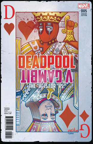 "Deadpool V Gambit The ""V"" is for ""VS"" Variant #5"