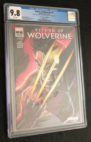 Return of Wolverine 1 Variant CGC 9.8 Glow-In-Dark