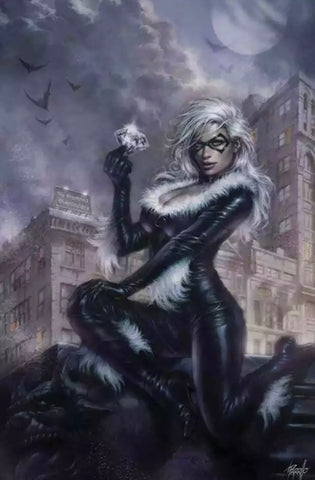 BLACK CAT #1 PARRILLO VIRGIN VARIANT W/COA