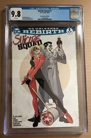 SUICIDE SQUAD #1 w/HARLEY QUINN & JOKER DYNAMIC FORCES CGC 9.8 Variant Cover