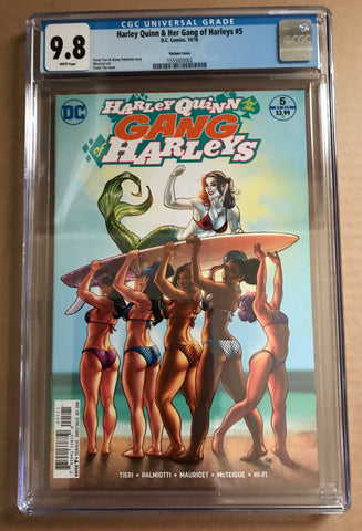 HARLEY QUINN and her GANG OF HARLEYS #5B Variant CGC 9.8