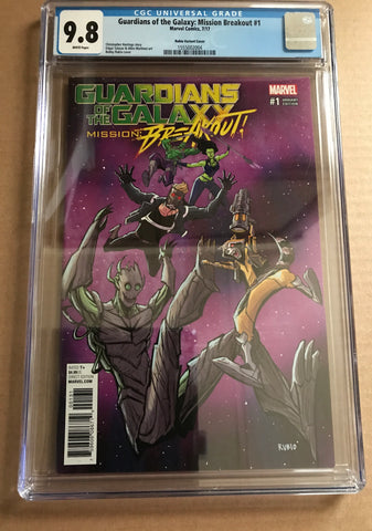 GUARDIANS OF THE GALAXY MISSION: BREAKOUT #1 VARIANT COVER CGC 9.8