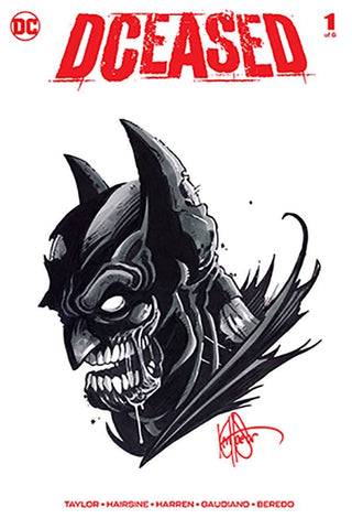 DF DCEASED #1 SGN RMRK HAESER BATMAN SKETCH