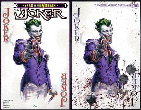 The Joker #1 Clayton Crain Trade Variant Set