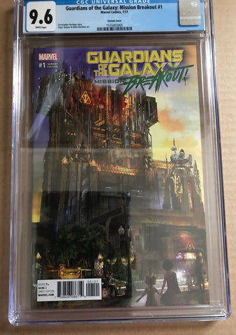 GUARDIANS OF THE GALAXY MISSION:BREAKOUT #1 Variant Cover CGC 9.8