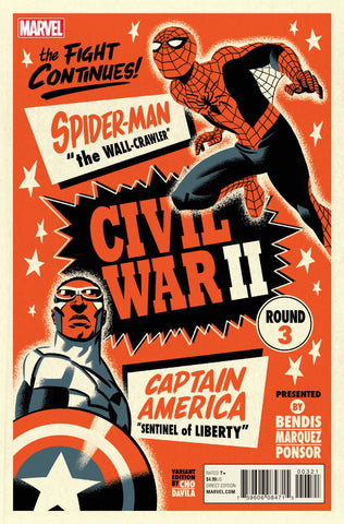 Spider-Man/Captain America The Fight Continues Civil War II Round 3 Variant
