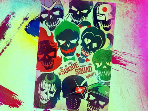 "Suicide Squad - 27""x 40"" Theatrical Poster Skulls"