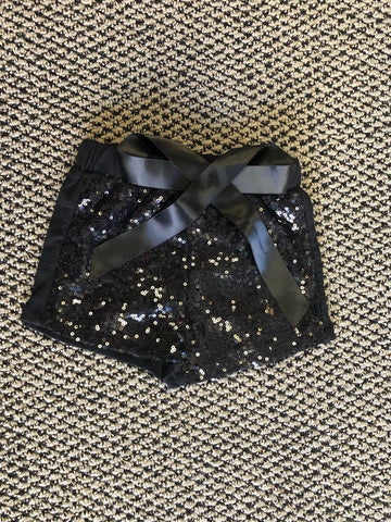 Black Sparkle Shorts