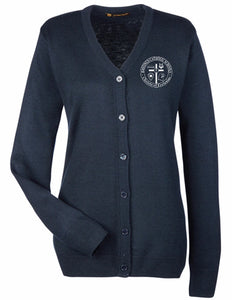 Harriton Ladies' Pilbloc™ V-Neck Button Cardigan Sweater HCS M425W