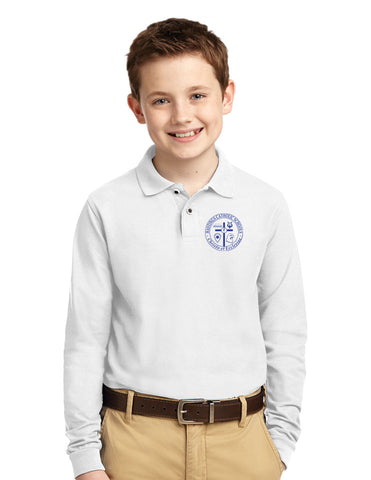 Port Authority® Youth Long Sleeve Cotton Feel Polo HCS Y500LS