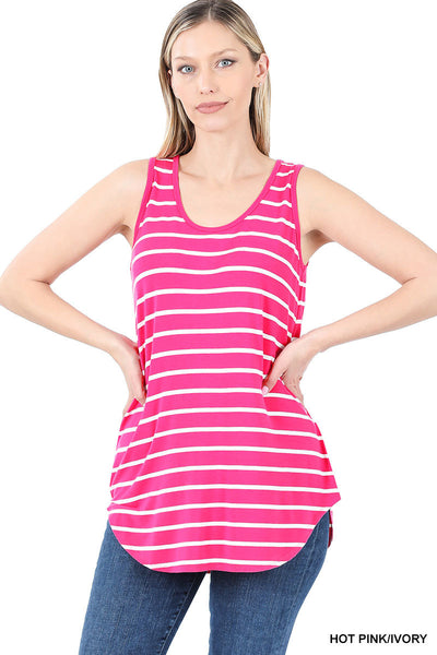Sleeveless Stripe Top