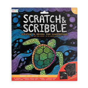 Scratch and Scribble Kit - Ocean Life