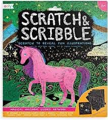 Scratch and Scribble Kit - Unicorn