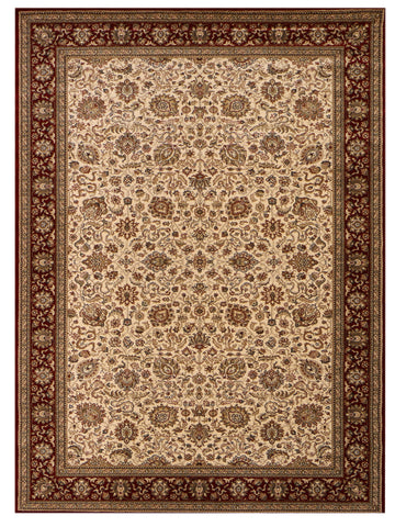 Heirloom - Ivory/Red, Rug - Jordans Flooring Outlet