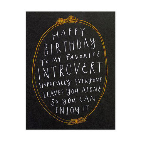 Introvert Birthday Card - City Bird