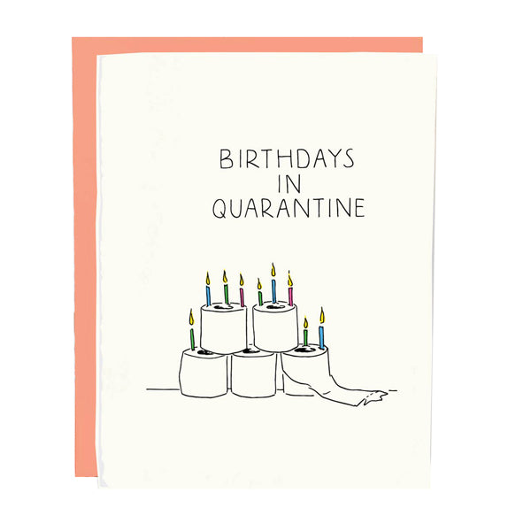 Toilet Paper Quarantine Bday Card - City Bird
