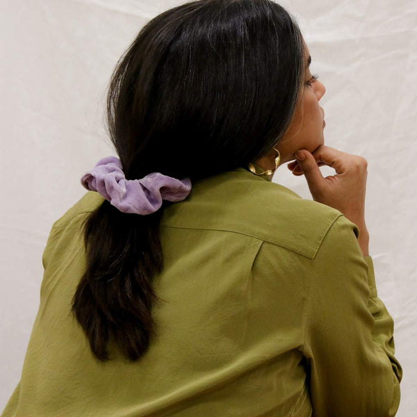 Naturally Dyed Velvet Scrunchie