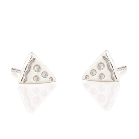 Pizza Studs Silver - City Bird