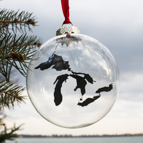 Great Lakes Glass Christmas Ornament - City Bird