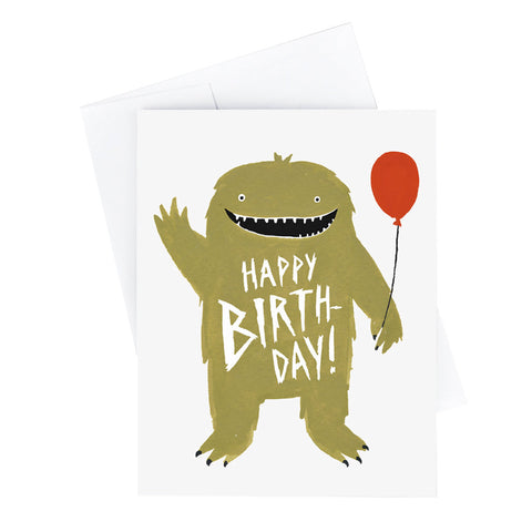 Party Monster Birthday Card - City Bird