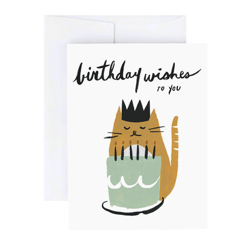 Kitty Birthday Wishes Card - City Bird