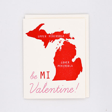 Be MI Valentine Letterpress Card Box Set Of 6 - City Bird