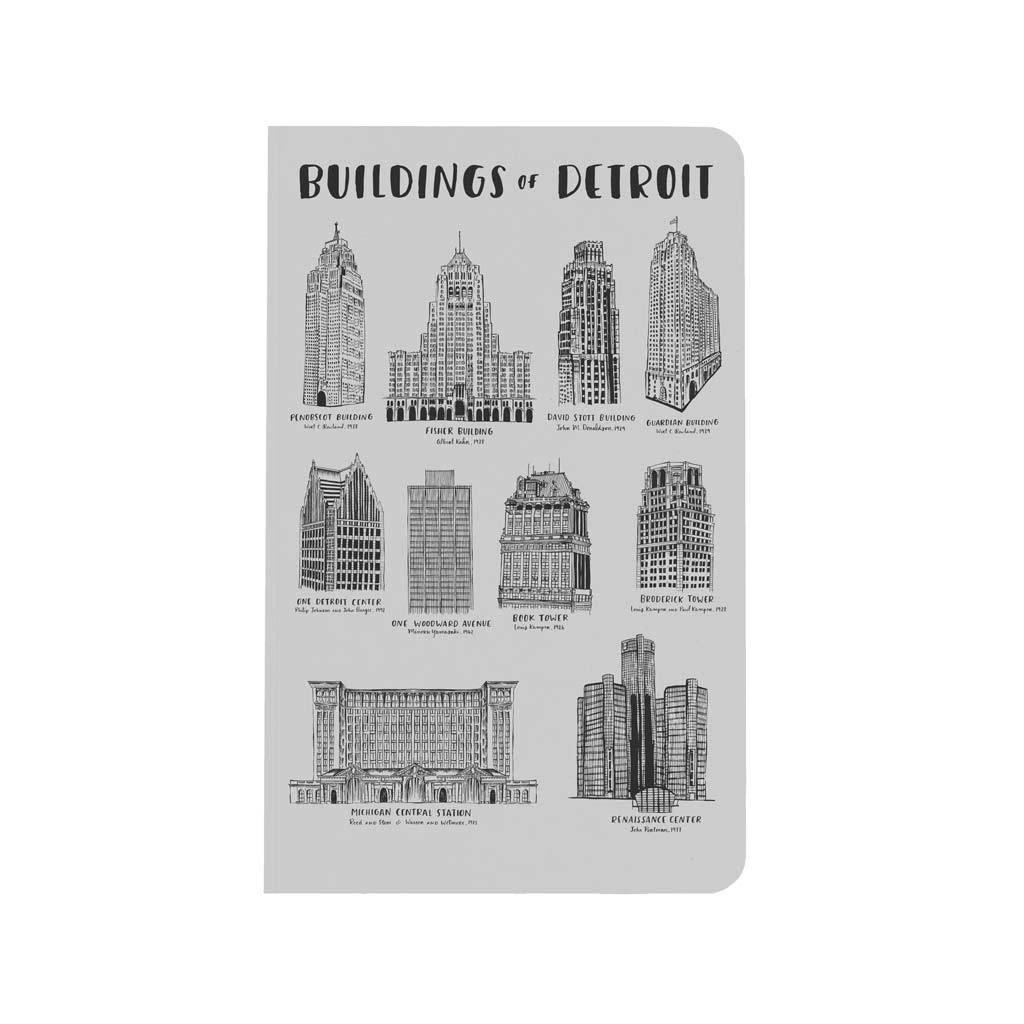 Buildings of Detroit Notebook - City Bird