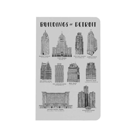 Buildings of Detroit Notebook