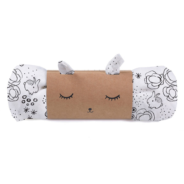 Organic Muslin Swaddle - Bunnies - City Bird