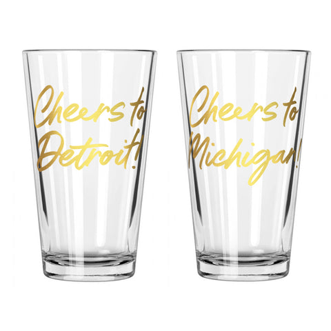 Cheers Pint Glasses