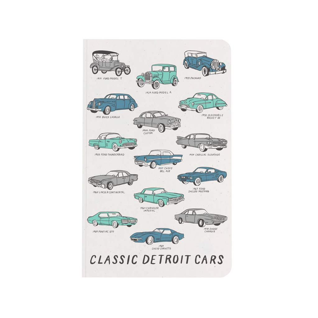 Classic Detroit Cars Notebook (w) - City Bird